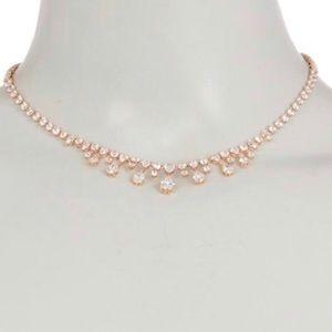 Nadri Audrey Rose Cubic Zirconia Collar Necklace